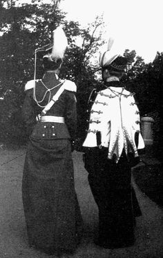 Olga and Tatiana in their uniforms