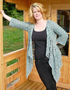 Elsa - Crochet Waterfall Cardi by Amanda Perkins - £3.00 GBP via Ravelry
