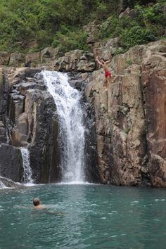 Wish I had my swimmers yesterday... I will be returning to this spot for some cliff diving soon. Four Pools Waterfall, Sai Wan Beach, Hong Kong