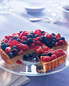 Almond-Coconut Tart Recipe-- Add some color to your table