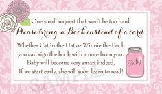 Mason Jar Pink Damask Baby Shower Digital Book by PartyPopInvites