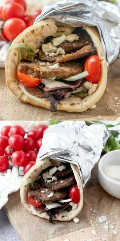 Make restaurant worthy homemade gyro meat and gyros -flat breads filled to burst. - Foodie with Family NEW - Greek Recipes Make restaurant worthy homemade gyro meat and gyros -flat breads filled to burst. - Foodie with Family NEW - Lebanese Recipes, Greek Recipes, Meat Recipes, Vegetarian Recipes, Dinner Recipes, Cooking Recipes, Croatian Recipes, Hungarian Recipes, Homemade Gyro Recipe