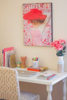 Girly |  #workspace #desk #interiors