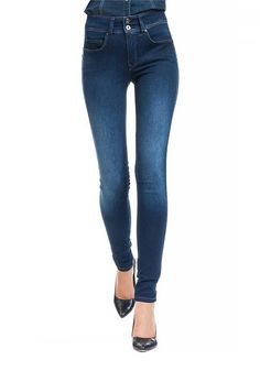 Salsa Secret High Waist Push In Skinny Jeans With Emana Denim, Blue | McElhinneys Department Store