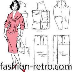 DE fashion-retro, TIENEN VARIOS MODELOS SIMILARES A ESTE---Шелковое платье-костюм 60-х