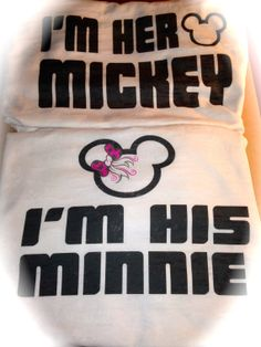 Bride and Groom Mickey Tshirts. I'm His Minnie by uniqueandtrendy, $39.95