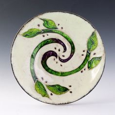 This is a small cloisonne bowl that I enameled.