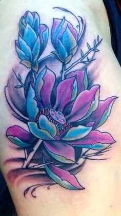 48 Best Blue Lotus Tattoo Images In 2018 Lotus Tattoo New Tattoos
