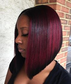 Burgundy Balayage Bob For Black Women, Check out our new photo gallery and pick the ideal style. Published September 2017 Written by Riverwoodhair Black Bob Haircut, Black Bob Hairstyles, Hairstyles Haircuts, Weave Hairstyles, Straight Hairstyles, Bob Haircuts, Hairstyles Pictures, Hair Pictures, Haircut Bob