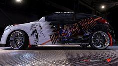 Hyundai Veloster # 37 of girostef in the window of Forza Motorsport 4