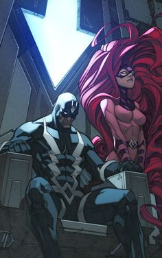 Black Bolt and Medusa •Joe Madureira