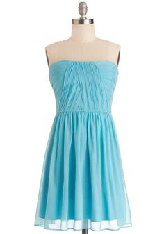 That Aqua Moment Dress, #ModCloth This one would be extra adorable with the right accents