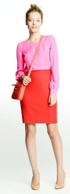 Pink Red Top Outfit Outfits Skirts Vintage Vogue Fashion