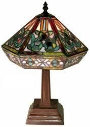 Warehouse of Tiffany Style Mission Table Lamp Stained Glass Antique Lamps, Vintage Lamps, Mission Table, Tiffany Style Table Lamps, Tiffany Art, Tiffany Glass, Light Bulb Wattage, Lamp Shade Store, Stained Glass Lamps