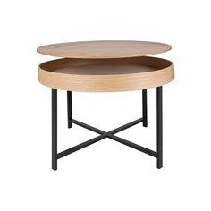 Lys sofabord med plads til opbevaring - #indretning #interiør #interiørdesign #interiørbutikkendk #rustikkemøbler #boligindretning #sofabord #opbevaring #Moderneindretning