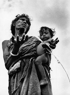 Famine stricken state of Bihar, India (1951) by Werner Bischof