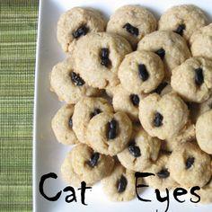 CATober Halloween Recipes: Cat Eyes  Cheeseball appetizers -- but spoookier