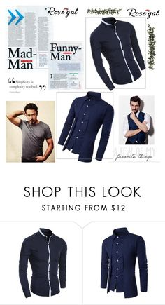 """""""Rosegal 67"""" by alma-883 ❤ liked on Polyvore featuring men's fashion and menswear"""