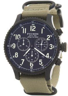 Filson Mackinaw Chronograph Field Watch - 43mm, Nylon Strap (For Men)