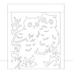 Pop up card with owls diy Stencil Patterns, Card Patterns, Kirigami, Paper Art, Paper Crafts, Pop Up Cards, Paper Cutting, Quilling, Stencils