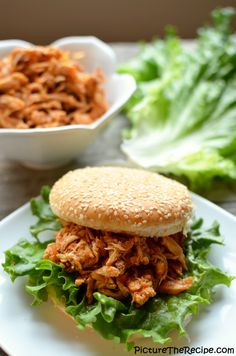 Spicy, tangy, sweet and highly addictive Chipotle Pepper Pulled Chicken....yummm