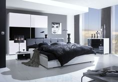 bedroom designs | Seductive classic bedroom design ideas modern black bedroom designs ...