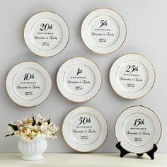 20th anniversary personalized plate great for your parents anniversary $24.99 - more ideas at http://www.anniversary-gifts-by-year.com/20th-anniversary-gift.html