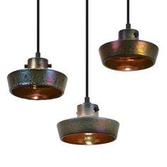 Lustre Shade Ceramic Flat Pendant Lamp