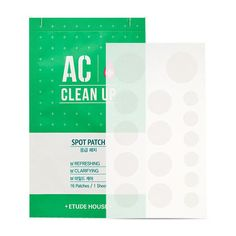 [ETUDE HOUSE] AC Clean Up Spot Patch 16 Patches/1 Sheet #ETUDEHOUSE