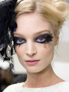 fishnet eyelashes - Chanel Manages To Make Fishnets Look Classy