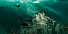 Qiandao Lake, milenar city  deep in the water, China