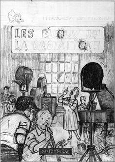 Hergé sketch