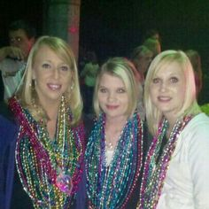 Katie,  Jenny and Christi. Mardi Gras 2011