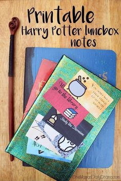 Printable Harry Potter lunchbox notes for back to school (or back to Hogwarts!)   8 awesomely geeky designs, free download to print at home.