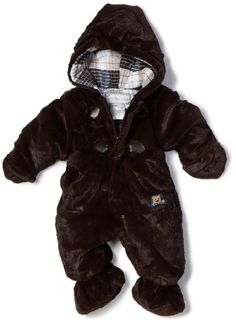 Rothschild Baby-boys Newborn Plush Snowsuit