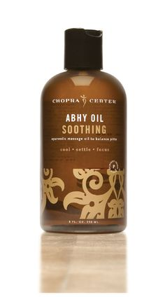Soothing Abhy oil is made with traditional Ayurvedic oils of Coconut, Almond, Jojoba, and Safflower and infused with the rejuvenating herb, Brahmi, and Pitta balancing essential oils of Ylang-Ylang, Lavender, Lemon, and other natural botanicals.