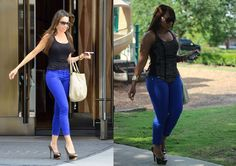 Jeimy's Fashion Love Affair...: Celebrity inspired: Sofia Vergara Look...  (Charlotte Russe heels~thrifted purse~Blue Asphalt jeans~F21 top)