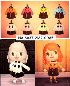 Animal Crossing Guide, Animal Crossing Villagers, Animal Crossing Qr Codes Clothes, Animal Games, My Animal, Kleidung Design, Motif Acnl, Ac New Leaf, Motifs Animal