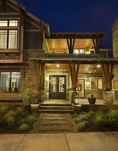 Mueller Residence Front Exterior - transitional - Exterior - Austin - Cornerstone Architects