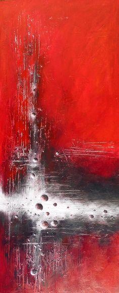 peinture style design 50x120mm - acrylique sur medium #peinture #abstrait…