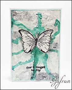 Szafranowe Twory: motylowy sTworek :)