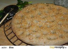 Focaccia se šalvějí z domácí pekárny recept - TopRecepty.cz Pie, Bread, Desserts, Torte, Tailgate Desserts, Cake, Deserts, Fruit Cakes, Brot