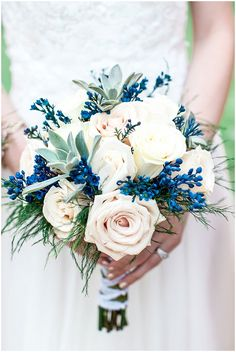 One of the hot new styles is the contemporary orange and blue wedding. And one of the highlights of a wedding is a bouquet of flowers. Interesting indeed speaks bouquet. Summer Wedding Bouquets, Blue Wedding Flowers, Bride Bouquets, Floral Wedding, Fall Wedding, Wedding Colors, Dream Wedding, Wedding Ideas, Wedding Bouquet Blue