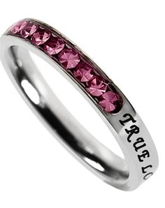 Princess Cut October Birth Stone Ring - Christian Rings for $20.76 | C28.com