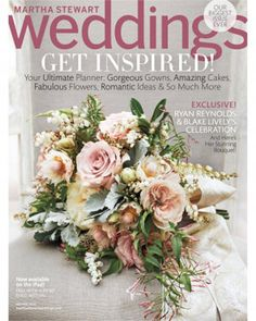 Blake Lively turned to Martha Stewart Weddings style director Kate Berry to create a bouquet of pink jasmine, andromeda, dusty miller, and blushing br. Blake Lively Ryan Reynolds, Blake And Ryan, Dusty Miller, Floral Wedding, Wedding Bouquets, Wedding Flowers, Trendy Wedding, Wedding Colors, Lilac Wedding