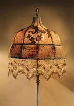 Victorian Beaded Floor Lamp | ITEM #: 4854
