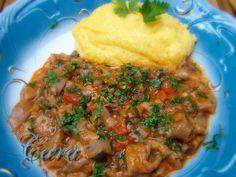 TOCANITA DE CIUPERCI PLEUROTUS Romanian Food, Mashed Potatoes, Main Dishes, Food And Drink, Beef, Cooking, Ethnic Recipes, Matcha, Travel