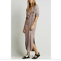 Maxi shirt dress Maxi shirt dress that has buttons going from top to bottom. Very comfortable and loose fit Dresses Maxi