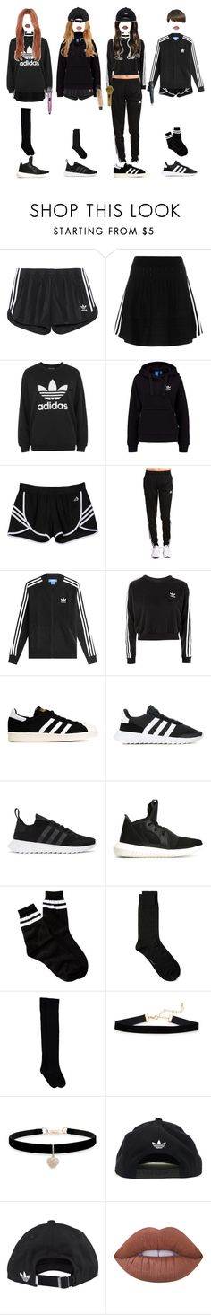 """[ live ] G-2 _ LOVE ME"" by xxzodiacentertainmentxx ❤ liked on Polyvore featuring adidas Originals, adidas, Free Press, GANT, Betsey Johnson, Lime Crime, CO, Mina, HyoJin and mirae"