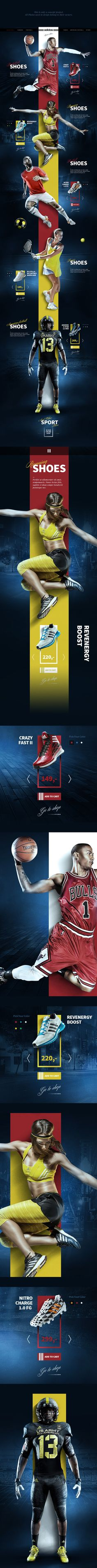 Sport Shoes Concept on Web Design Served